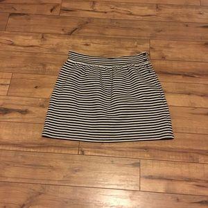 Women's black and white stripe size 14 skirt